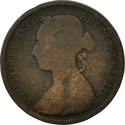 [#466680] Great Britain, Victoria, 1/2 Penny, 1889, VG(8-10), Bronze, KM:754
