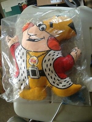 """1973 Burger King the King 13""""Plush in Bag Awesome Color"""