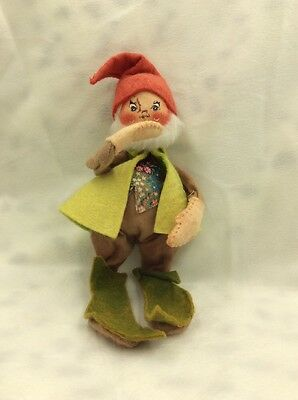 Vintage 1979 Annalee Doll Green Gnome Doll