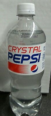 CRYSTAL PEPSI 20oz Bottle Soda Clear Cola 2016 Limited Release Unopened NEW $3