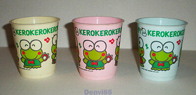 VINTAGE! 1990 Sanrio KEROPPI Lot of 3 Plastic Cups!