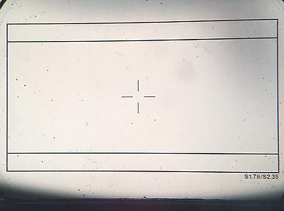 Aaton 35mm Camera Super 35 Ground Glass 2.35 And 1.78 Markings