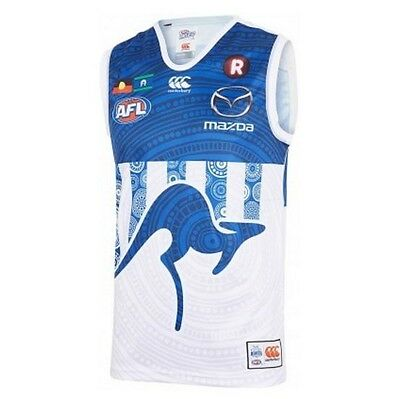 North Melbourne Kangaroos AFL 2017 Indigenous Guernsey Size S-3XL IN STOCK NOW!