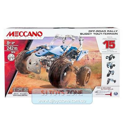 Meccano Maker System 15 Model Set - Off-Road Rally Side By Side Atv Building Toy