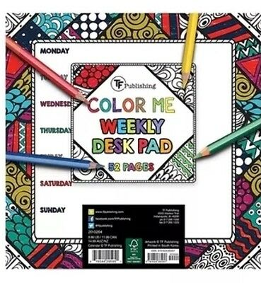 TF PUBLISHING Color Me Weekly Desk Pad 52 Pages