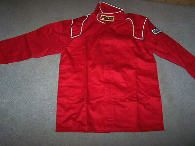 RCI RACE JACKET Single Layer RED SFI 3-2A/1 Racing Driving ADULT S Small NEW