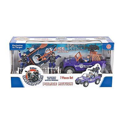 NEW 7 Piece Police Action Playset