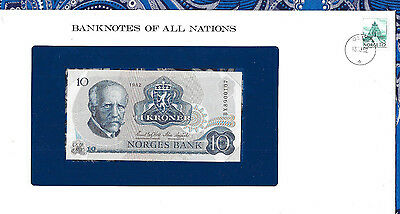 Banknotes of All Nations Norway 10 Kroner 1982 P 36c UNC Prefix BX