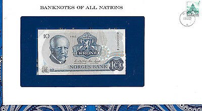 Banknotes of All Nations Norway 10 Kroner 1982 P 36c UNC Prefix BJ*