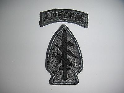 Used US Army Special Forces ACU Unit Patch (Hook & Loop Back) - (#1110)