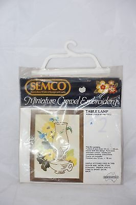 Semco Miniature Crewel Embroidery Kit Table Lamp No. 1320