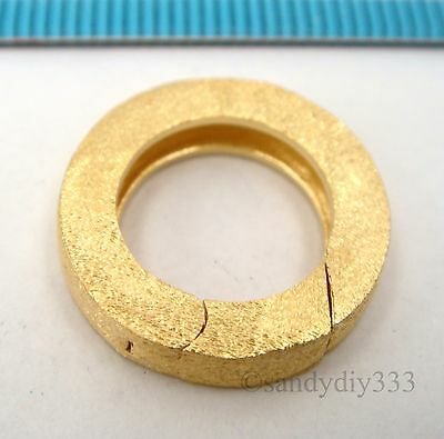 1x K GOLD plated STERLING SILVER STARDUST ROUND SPRING LOBSTER CLASP 17.5mm G214