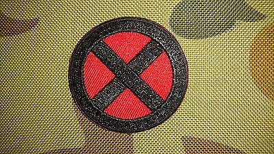 Brand New Xmen Symbol Red Black Tactical Morale Airsoft Hook Patch Aussie Seller