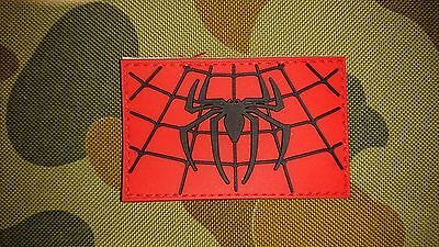 New Spiderman Black Red Tactical Morale Airsoft Hook Pvc Patch Australian Seller