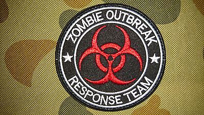New Zombie Outbreak Response Team Red Biohazard Tactical Airsoft Patch Australia