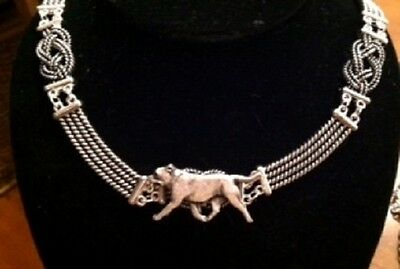 Staffie Bull Terrier Knot Necklace~dog jewelry~infinity/celtic Staffordshire