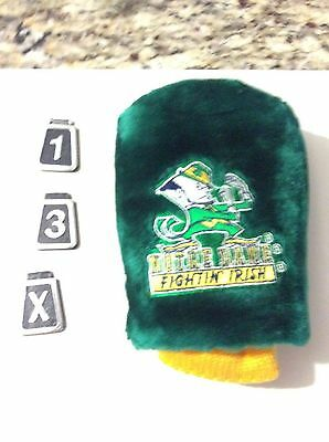 1 Norte Dame Fighting Irish Team Mascot Golf Club Cover (1,3,X ) TAGS INCLUDED