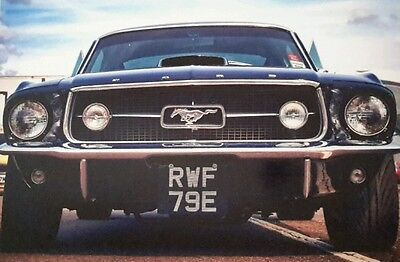 Ford Mustang Old Classic 1967 Car Large A4 Poster Picture Print Art