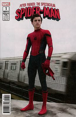 PETER PARKER SPECTACULAR SPIDER-MAN #1 NEW MOVIE VARIANT COVER. NM 1st print