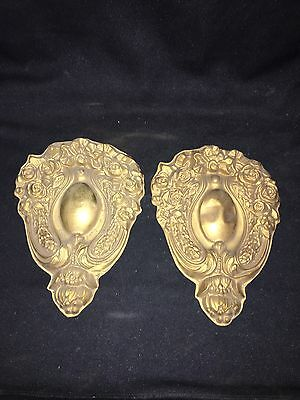 "Pr 1930's 8 3/8"" Brass Pediments"