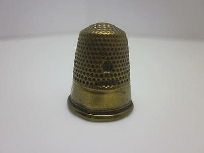 Vintage Germany Brass Sewing Thimble, Size 8, Late 19th to Early 20th Century