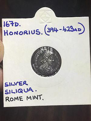 *HIGHLY COLLECTABLE* Honorius Silver Siliqua. Ancient Roman Imperial Coin.