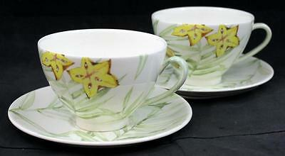 Gien EXOTIC Breakfast Cup & Saucer GREAT CONDITION