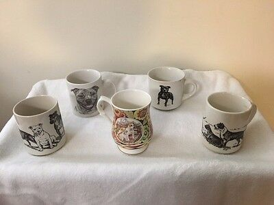 Collectibles, Staffordshire Bull Terrier, dogs, mugs,coffee cup