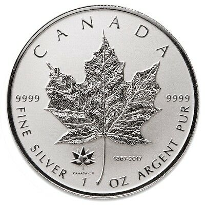 2017 150TH ANNIVERSARY PRIVY 1 oz Pure Silver Maple Leaf Reverse Proof Coin