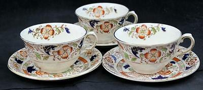 Burgess & Leigh GORDON RUST 3 Cup & Saucer Sets VERY GOOD CONDITION