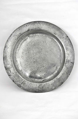 """Large Old 42cm / 16.5"""" Pewter Charger Tray/Plate"""