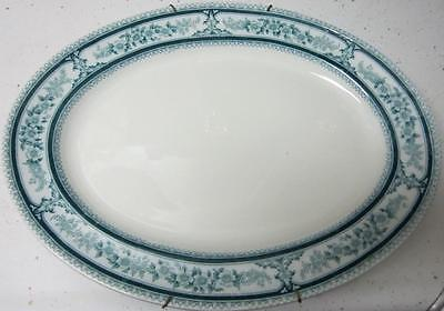 Woods And Sons, Semi Porcelain Platter, Lorraine Royal Pattern, Wall Bracket!