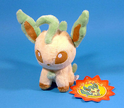POKEMON Center -  PHYLLALI Leafeon Peluche 14 cm JAPON Pokedoll 2008 plush LEGIT