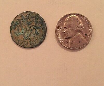 1731 Dutch East India Company Duit Copper Coin