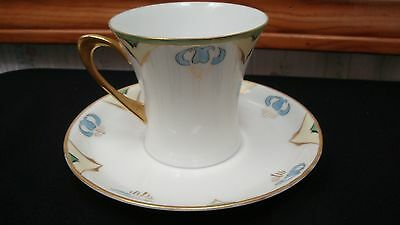 Vintage Jhr Bavaria Cacilie Hand Hand Painted Cup And Saucer Signed