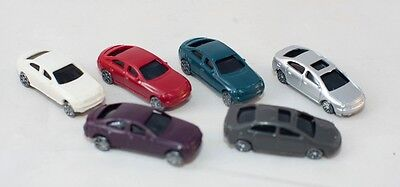 Bulk N Scale Plastic Cars Various Colours x 50 for layout war gaming terran