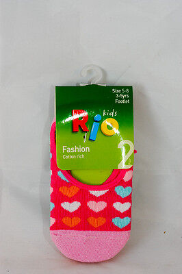 Rio Kids Footlet Socks 2 Pack Size 5-8 (3-5yrs) fashion cotton rich