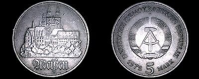 1972-A German Democratic Republic 5 Mark World Coin -  East Germany - Meissen