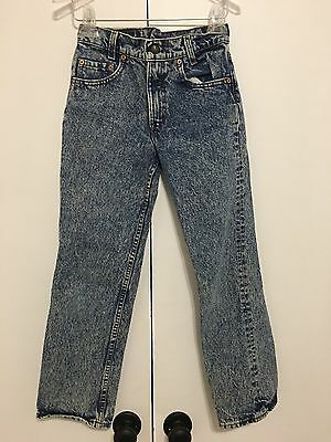 Vintage Levi's Jeans Acid Wash 26x25 Size 12R Made In USA