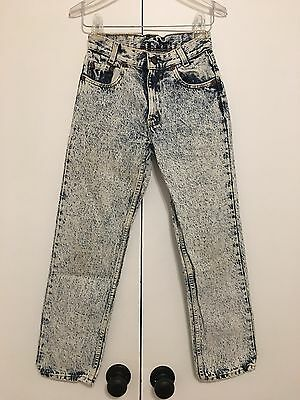 Vintage Levi's Jeans Acid Wash 26x27 Size 12 Made In USA