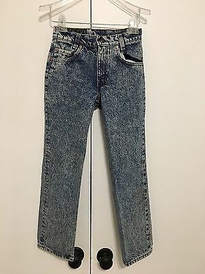 Vintage Levi's Jeans Acid Wash 25x25 Size 12R Made In USA