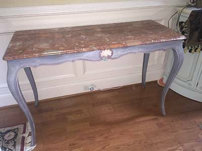 Antique Marble Buffet Console Sideboard Table