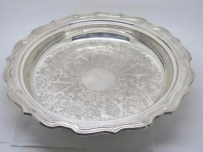 Vintage Eales Silverplate Footed Serving Bowl