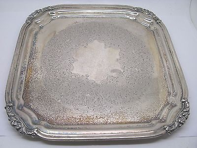 Old Sheffield Silverplate Square Serving Tray