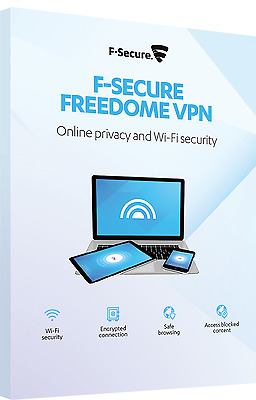 F-Secure Freedome VPN 3 Devices 1 Year WiFi Internet Security PC Mac Android iOS