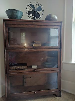 Antique Lundstrom Lawyers Barrister Bookcase.
