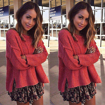 Hot Women Long Sleeve Knitted Sweater Tops Loose Cardigan Outwear Coat Oversized