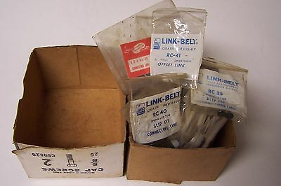 Box Of Mostly FMC Link-Belt Chain Division Connecting Links RC 40 RC 35 RC 41 ET