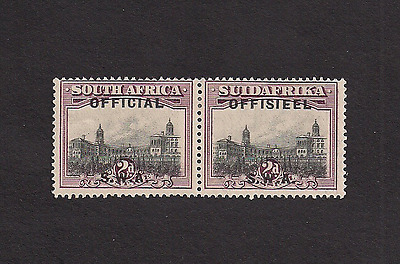South West Africa SC O8g pair error missing periods Mint OG LH SWA CV $22