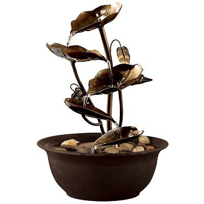Decorative Lily Indoor Water Fall Fountain Water Feature with Pump
